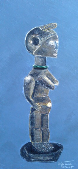 Statuette africaine au collier 30X60 N°3030
