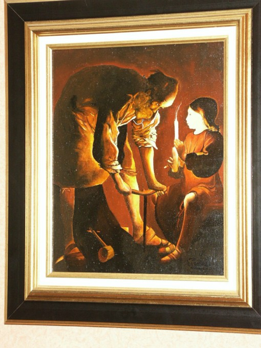 N°80 (copie) 'Saint Joseph Charpentier' Georges de la tour 