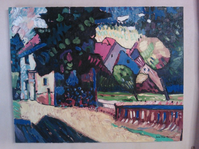N°86 (copie) Kandinsky 'Green House' 92X73