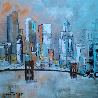 New York Pont de Brooklyn 60X60 N°3037