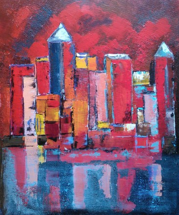 New York rouge 46X38 N°3039
